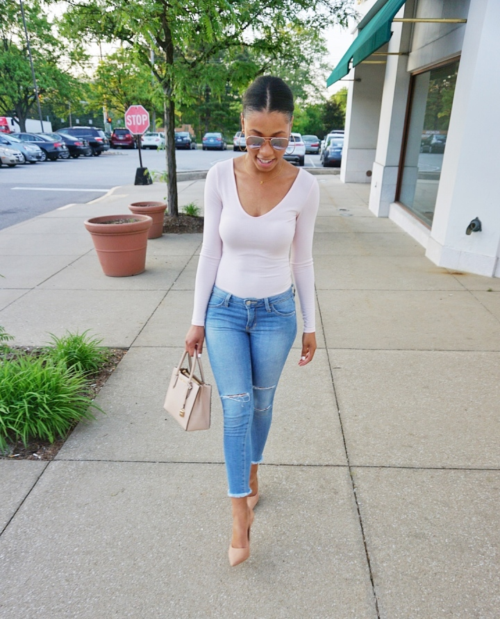 Thursday's OOTD: Blush Bodysuit